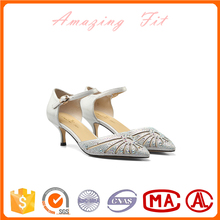 Sparkling summer pumps elgant Bridal shoes Wedding Party sandals with high/low heels