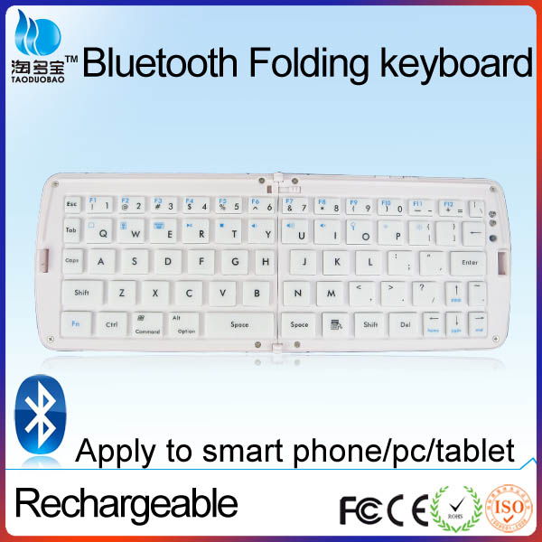 Ultra-Thin Foldable Bluetooth 3.0 Keyboard FOR Ipad Iphone