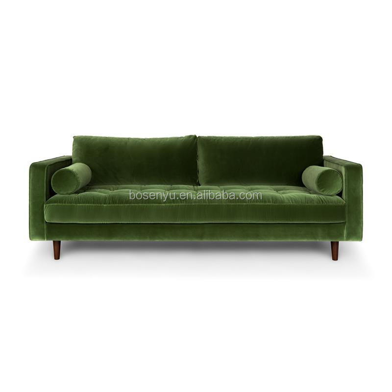 Classic green velvet <strong>sofa</strong>/crushed velvet <strong>sofa</strong> set designs
