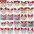 European and American children's Christmas headband Santa hair accessories antlers hair band hoop headband