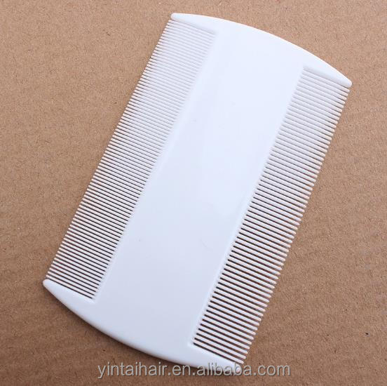 Plastic Fine Tooth Comb Head Hair Nit Flea Lice Combs Egges Dust Remover