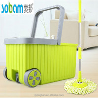 Mop Bucket Wheels With Two Mop Heads