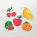 fruit 3d paper car air fenshener for home and car