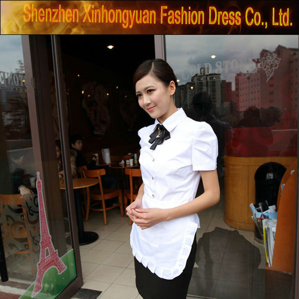 2015 OEM bar hotel waiter maid waitress uniform