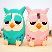 3D Cartoon animals Korea cute Owl soft silicone case cover For For Samsung Galaxy S3 III I9300/ S4 SIV I9500 /S5 I9600