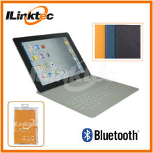 Waterproof Ultra thin foldable bluetooth keyboard leather case for ipad 2/3/4 magnetic stand for ipad