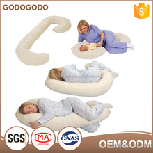 Wholesale Price Pregnancy Pillow Washable Microfiber Filling Maternity Full Body C Shape Pillow For Sale