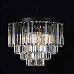 Maria Theresa Traditional Round 3-Tier Crystal Chandelier Polished Gold Plated 41 Lights