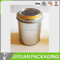 2015 high quality plain craft tin storage can/tin caddy for cookie chocolate biscuit