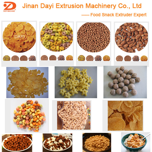 Advanced machine for breakfast cereal and corn flakes/corn snack food extruder with 350kg/h