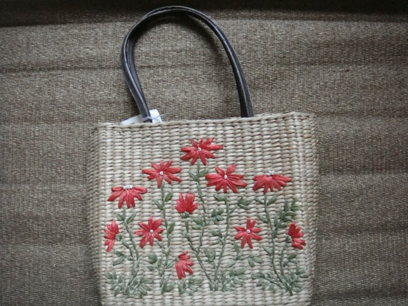 paper knitted bag 2012 New Style Maize Straw bag