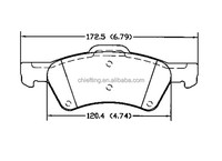 D857 05019803AA for CHRYSLER DODGE front brake pads car parts
