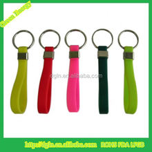 Colorful PVC keychain rubber keyring