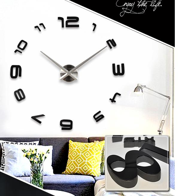Large metal clear acrylic gear pendulum wall clock for sale