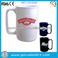 beautiful new white western ceramic square handle coffee mug for advertising