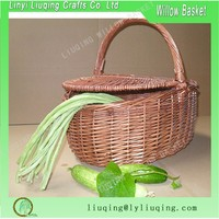 Simple Home Woven Wicker Vegetable Basket With Handle Wicker Willow Market Basket