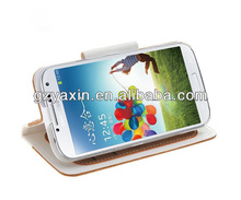 Fancy cell phone cover case for samsung galaxy s4,New style PU leather case for samsung galaxy S4 mobile phone