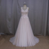 wholesale lace bridal gowns with best prices sleeveless beading for party