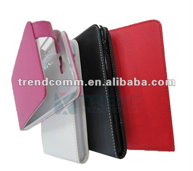 OEM flip leather case for galaxy note i9220