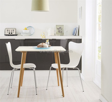 WH-4145 White Solid Wood Dining Table CRW Furniture