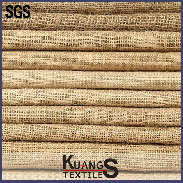 100% pure jute fabric for sofa and package