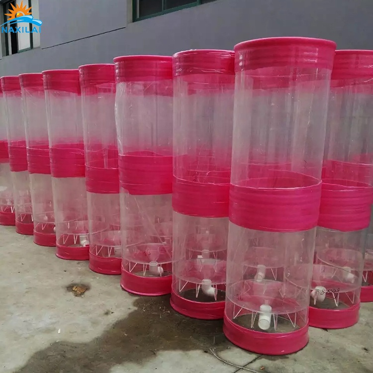 NAXILAI 1000/1200/1500mm Clear cast  round tank aquarium large clear cylinder large diameter