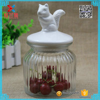 Hot selling 600ml wide mouth large glass storage jar with ceramic lid
