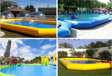 large inflatable square swimming pool, PVC pool, inflatable pool price P058