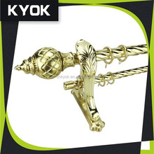 KYOK new designs double wood curtain rod,double curtain rod wholesale for home decoration project