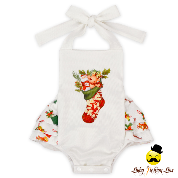 Warm Winter Long Sleeve Baby Rompers Ruffle Long Legs Infant Toddlers Clothing Baby Romper