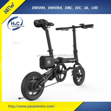 lightweight 36V 5.8Ah li-ion 250W motor electric bike with 12x2.125 KENDA tires electric folding bike lightweight for sale