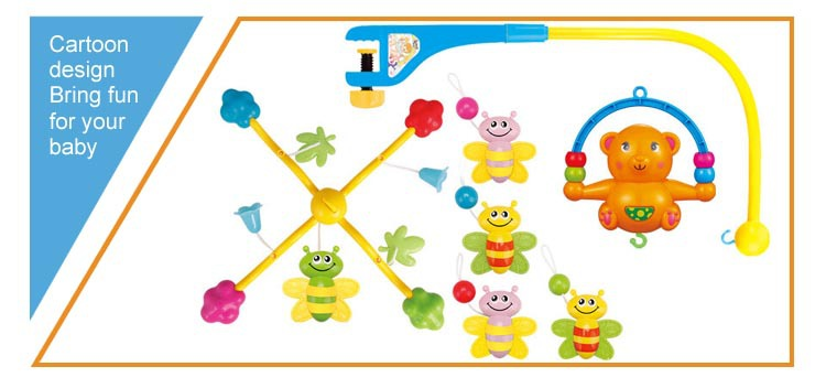 2015 New baby toy lighting and musical mobile baby