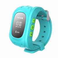 2016 Best selling wrist watch gps tracking device for kids Q50 with two way communication