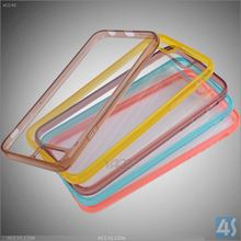 OEM Accpeted PC TPU Colorful Bumper Clear Back Case For iPhone 6 6S