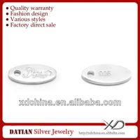 XD002 925 sterling silver custom made silver jewelry tags