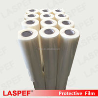 Clear plastic protective film for floor