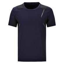 High Quality Men's Polyester Deep Blue Colour O Neck Custom Sport Dry Fit T Shirt