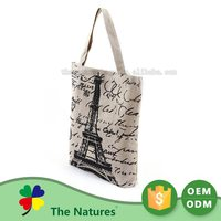 Advertising Promotion Highest Quality Custom Printing Logo Handled Jute Knitting Bag Manufacturers