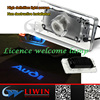 LW 2015 New Model led car door logo laser projector light car ledlogo lights for audi