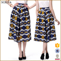2016 fast fashion skirt adult women's african print long puffy tulle skirt