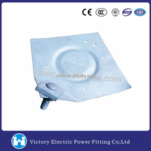 Pole Line Hardware Electric Power Fitting HDG Hot Dip Galvanized Ground Plate Pole Butt