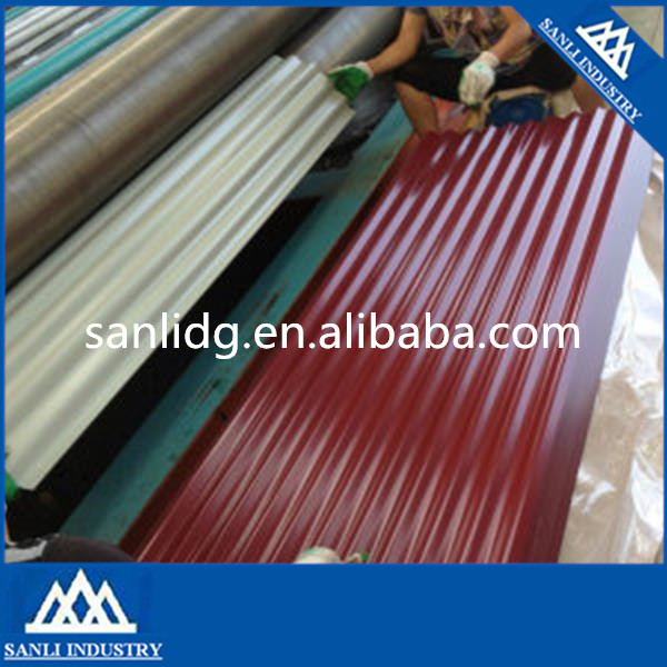 Coated Surface Treatment DX51D Grade Prepainted Galvalume Roofing Steel Plate Galvanized Corrugated