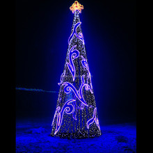 2015 Giant christmas tree for outdoor decorations spectacular LED light sequin landmark