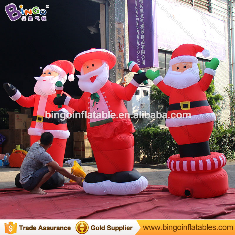 2017 New design motor-driven revolve inflatable christmas father old man