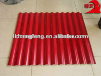 SGCC Galvanized Prepainted Red Corrugated Roofing Sheet