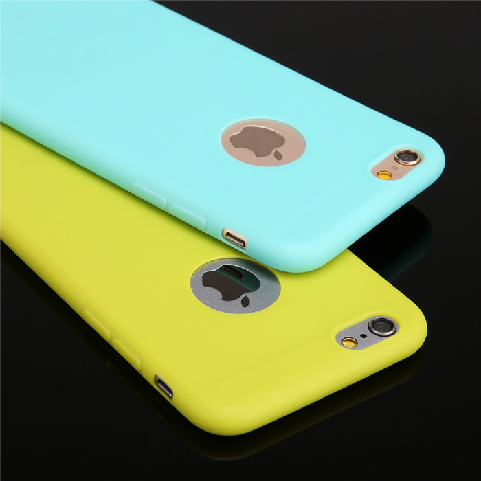 New 2017 Candy Colors Silicon Cute Phone <strong>Case</strong> For iPhone 6 7 Plus 5 inch TPU Mobile Phone <strong>Case</strong> Coque With Logo Window