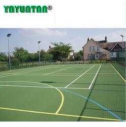 All Weather Sport Court Flooring / Acrylic rubber Tennis Court Surface Anti Slip Floor Tiles