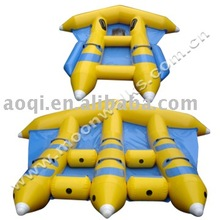 AOQI hard-wearing quality inflatable flying fish inflatable boat water park rafts for promotion