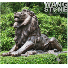 King of Animal Life Size Antique Bronze Male Lion Statue