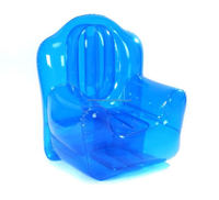 blue Bubble Chairs Air Pump Transparent Inflatable Sofa